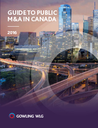 Guide to Public M&A Canada