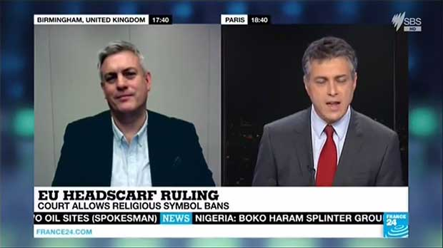 Jonathan Chamberlain being interviewed on France24 - Click to view the interview