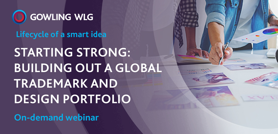 Webinar on building out a global trademark and design profile