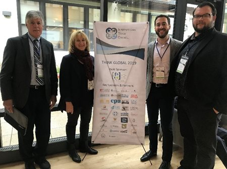 Associate, Aaron Goldstein, with representatives from the Ontario Investment Alliance at the Think Global Conference in Chicago, IL. </em>From left to right: Tim Reynolds, Jennifer Patterson, Aaron Goldstein and Tyson McMann.