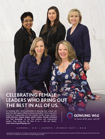 Click to view poster of Gowling WLG partners Joëlle Boisvert, Neena Gupta, Jaimie Lickers, Brenda Pritchard and Tina Woodside