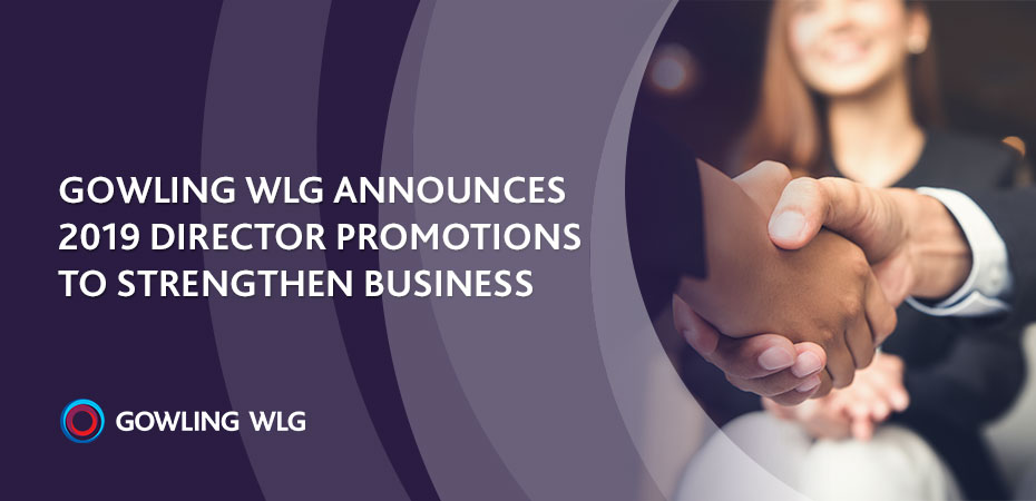 Gowling WLG announces 2019 director promotions